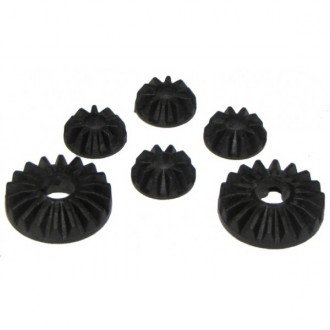 DIFFERENTIAL HARD COMPOSITE GEARS - CARBON/FIBER 50%